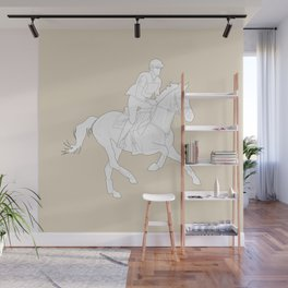 Eventing in Tan Wall Mural