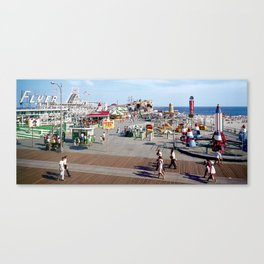 Hunts Pier in the 1960's, Wildwood NJ Boardwalk Canvas Print