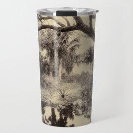 Live Oaks and Palmetto, Everglades, Florida, Vintage Travel Mug