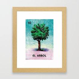 El Arbol Mexican Loteria Bingo Card Framed Art Print