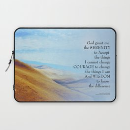 Serenity Prayer Golden Hills Laptop Sleeve
