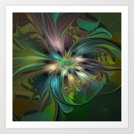 Colorful Abstract Fractal Art Art Print