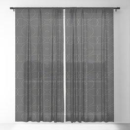 Strange Waves Sheer Curtain