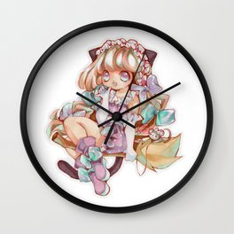 Cute Witch Wall Clock