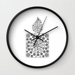 Candle of snowflakes Wall Clock