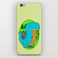 dino iPhone & iPod Skins featuring Dino by R.E.L