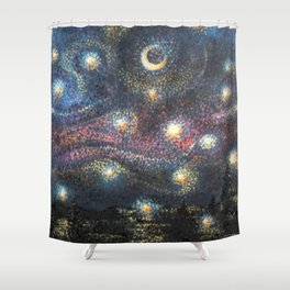 Starry Night 2 of 3 Shower Curtain