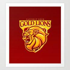 Casterly Rock Gold Lions Art Print