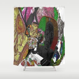 Whacky Bags pattern Shower Curtain