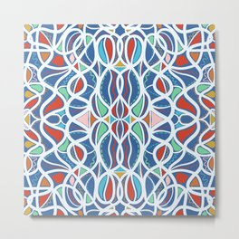 Geometric colourful motifs pattern Metal Print