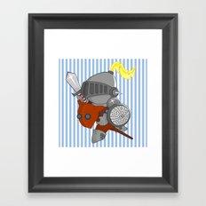 little knight in armor Framed Art Print