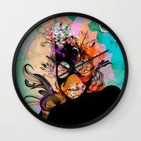 superheroes Wall Clocks featuring Superheroes SF by Irmak Akcadogan