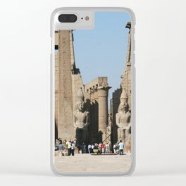 Temple of Luxor, no. 12 Clear iPhone Case