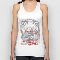 techno Tank Tops featuring Techno Cop by Slippytee Clothing