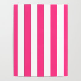 Barbie Pink (2004-2005) - solid color - white vertical lines pattern Poster