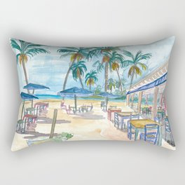 The Florida Keys Beach Cafe Rectangular Pillow