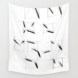 quadrats with diagonal lines Wall Tapestry