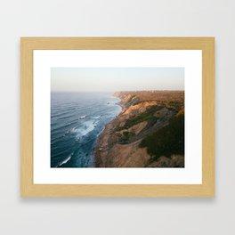 Morning flight over Block Island Framed Art Print