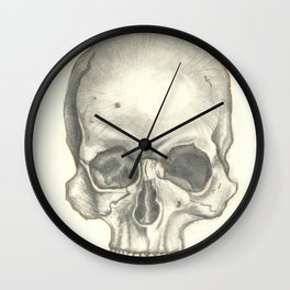 Vintage Skull - Black and White Drawing Wall Clock