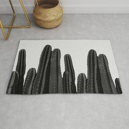 Cactus Black & White Rug