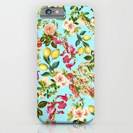 Lemon and Leaf Pattern IV iPhone Case