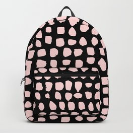 dots (pink on black) Backpack