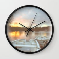 water colour Wall Clocks featuring Water colour  by Doug McRae