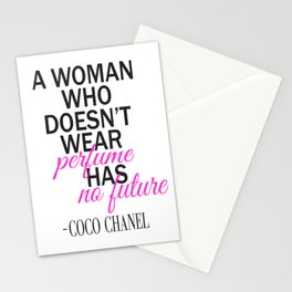 A Woman Who Doesn't Wear Perfume... Stationery Cards