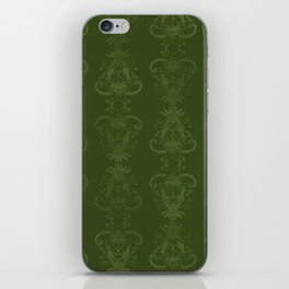 Carnivorous Damask (Lime) iPhone Skin