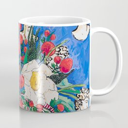 Horse Urn with Tiny Apples and Matilija Queen of California Poppies Floral Still Life Coffee Mug