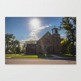 Holy Trinity Catholic Church, Fingal, North Dakota 2 Canvas Print