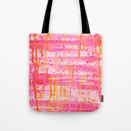 Confetti Abstract High Flow Acrylic Painting Tote Bag