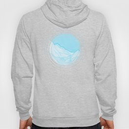 Lines in the mountains - Aqua Hoody