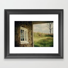 A Meadow View Framed Art Print