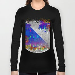 Abstract Colorful Rain Drops Design Long Sleeve T-shirt
