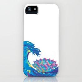 Hokusai Rainbow & Lotus iPhone Case