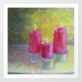 Candles  Oil on Canvas Art Print