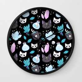Herb Witch // Black Wall Clock