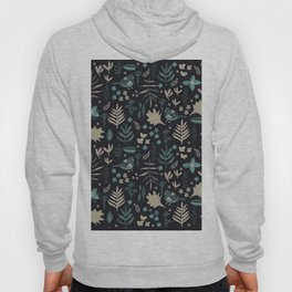 Night Nature Floral Pattern Hoody