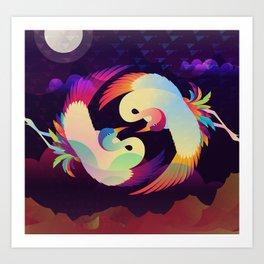 Cranes - The Lovers Art Print