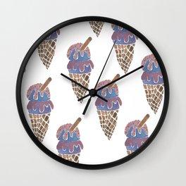 Ice Cream Cone 2 - Diagonal Print Wall Clock