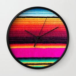Magenta Sky Serape Wall Clock