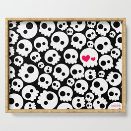 A skull in love Serving Tray