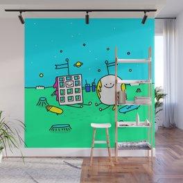 Waffle & Pancake Friends Wall Mural