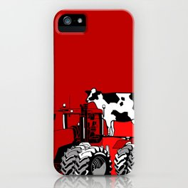 stolen tractor and cow iPhone Case