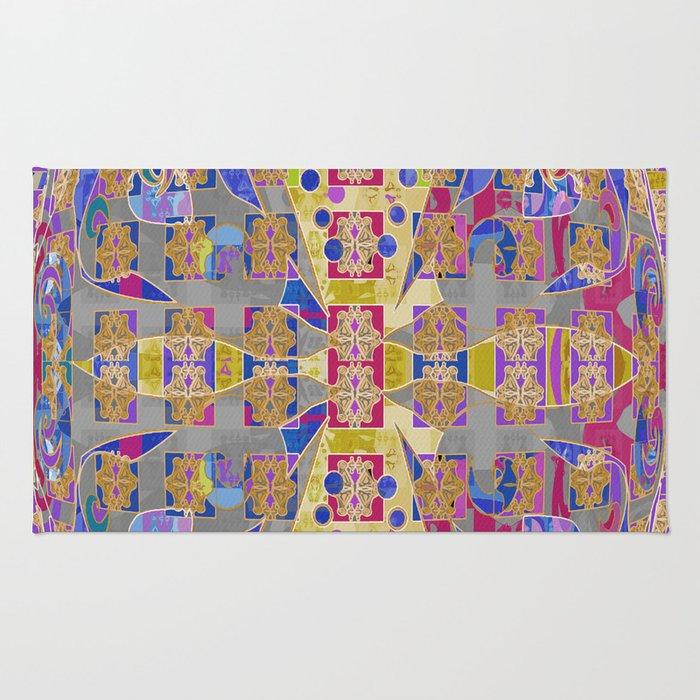 Radiant Egg Digital Quilt Design Rug