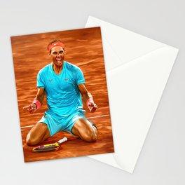 Rafa Nadal wins 13th RG. Digital artwork print. Tennis fan art gift. Stationery Cards