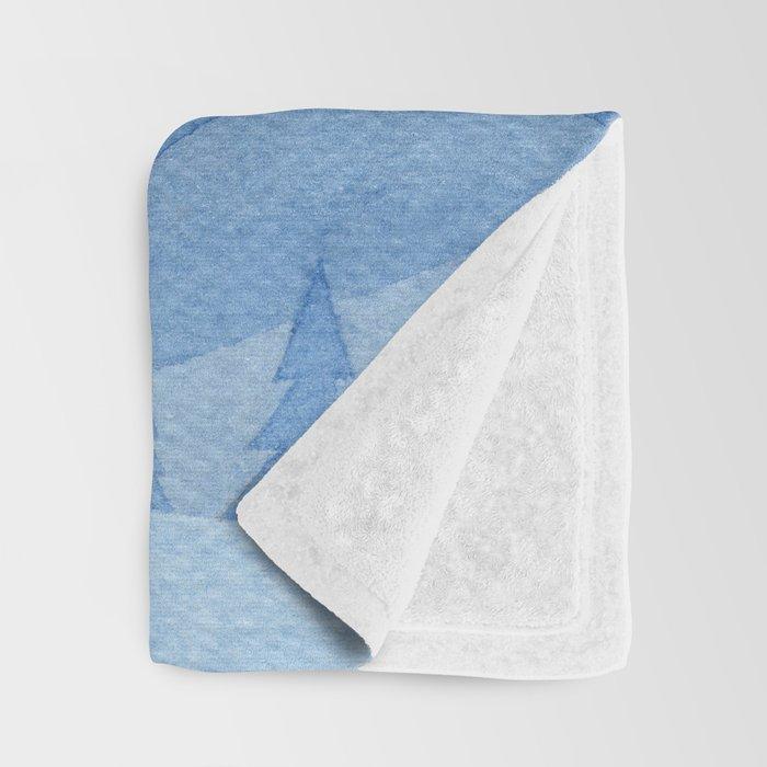 Stars factory, blue Throw Blanket