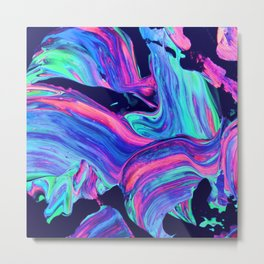 Neon abstract #charm Metal Print