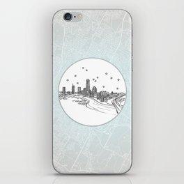 Austin, Texas City Skyline Illustration Drawing iPhone Skin
